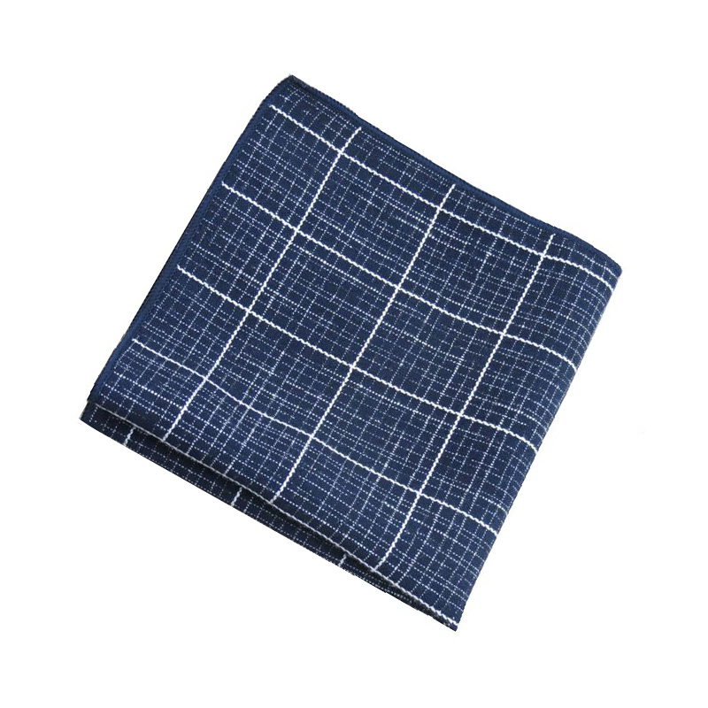 Mantieqingway Men's Cotton Handkerchief Pocket Square For Wedding Party Fashion Brand Mens Suits Pocket Towel 26*26cm Hankies