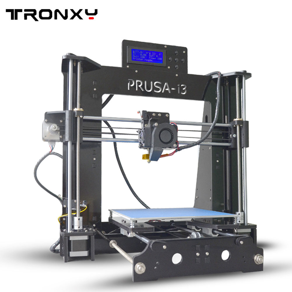 Tronxy X6D Acrylic Structure Size 220*220*180mm Double Fans DIY 3D Printer Kit With 1 Roll Free Filaments 8GB SD Card As Gift tronxy acrylic p802 mts 3d printer