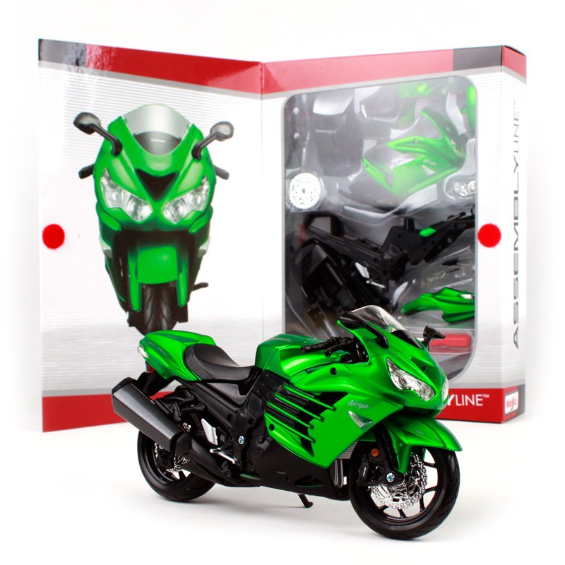 Maisto 1:12 Kawasaki Ninja ZX 14R Green Assembly DIY MOTORCYCLE BIKE Model Kit FREE SHIPPING NEW ARRIVAL S 1000 RR/ R 1200 GS цена 2017