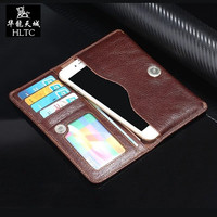 Real Genuine Leather Horizontal Belt Holster Phone Pouch Case For Iphone 6 6s 7 7plus Cell