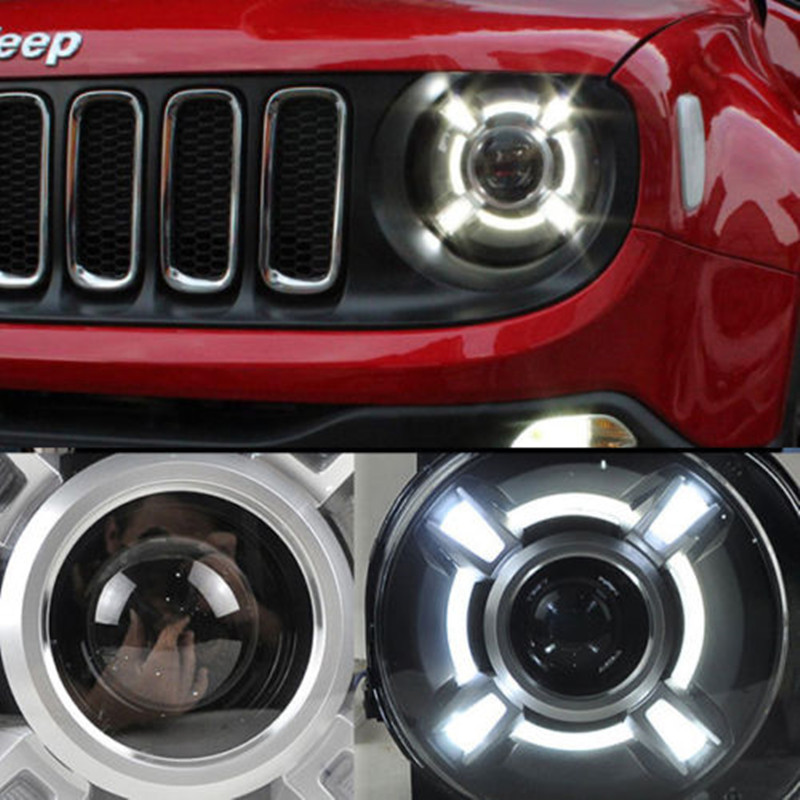 2015-2017 Year For Jeep Renegade BU LED Headlights Bi-Xenon Projector Lens Lamps for Jeep Renegade led headlights Assembly for chevrolet cruze tuning bi xenon projector lens head lights with led turn light 2015 year new arrival