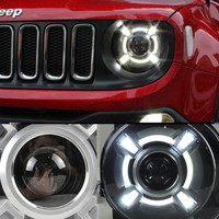 2015 2017 Year For Jeep Renegade BU LED Headlights Bi Xenon Projector Lens Lamps for Jeep Renegade led headlights Assembly