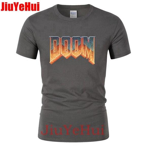 2018 Men's Design TShirt Doom Game Men Natural Cotton Short Sleeve T Shirt Fashion Teenage Unique Men T Shirts