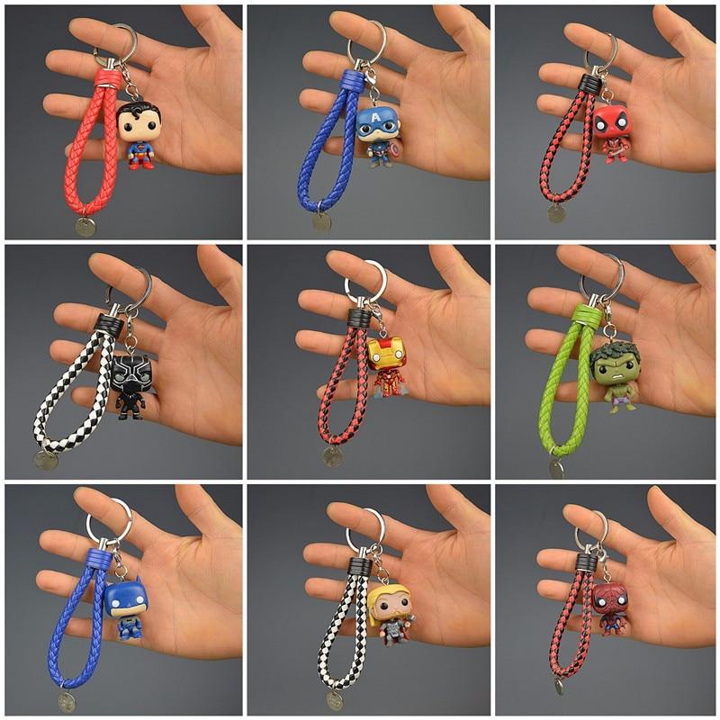 2019 Fashion New Toys Keychain Marvel Captain America Iron Man Key Ring Kids Wonder Women Key Chain Bag Pendant Jewelry