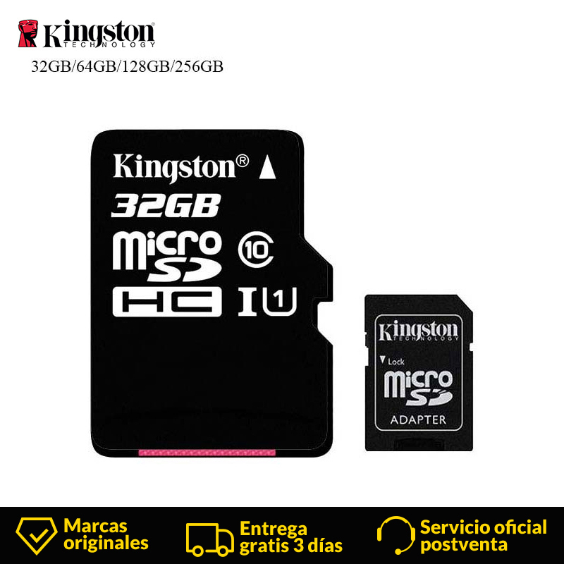 Kingston Technology Micro SD Card 32GB 16GB 64GB 128GB MicroSDHC Memory Card Class10 UHS-I TF Card Read Card With SD Adapter