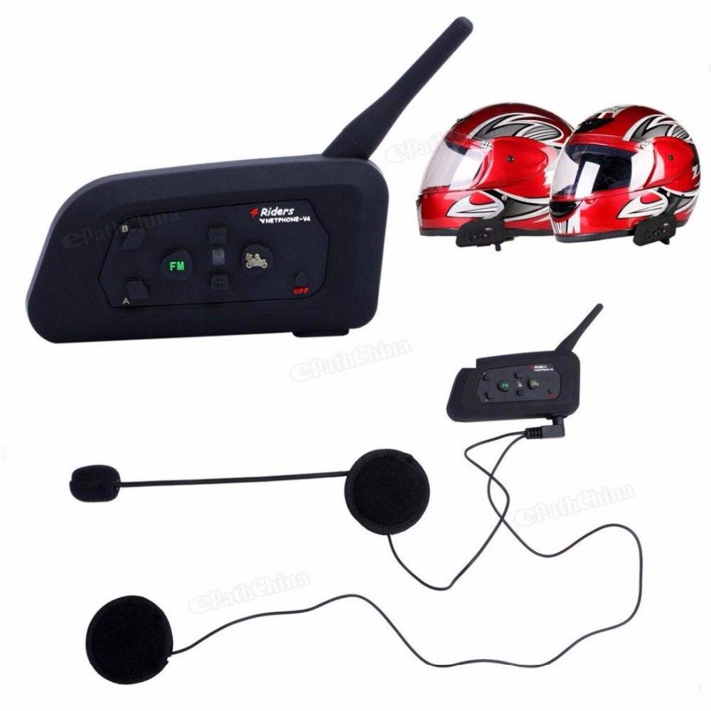 Здесь можно купить  V4 BT Multi Interphone Hand- Bluetooth Intercom Waterproof FM Motorcycle Headphone Helmet Headset Communicator 4 Riders  Автомобили и Мотоциклы