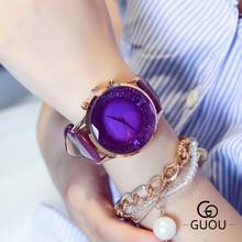 GUOU Brand Watch Women Fashion Quartz Watches Luxury Female Clock 2018 New Leather Dress WristWatch Hodinky relogio feminino цена