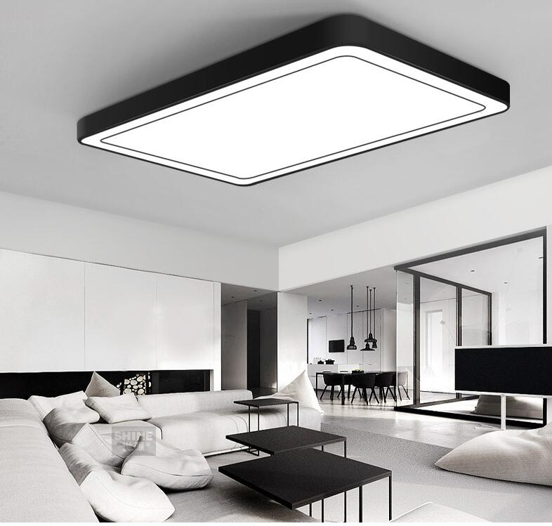 Современные офисные светильники Потолочные светильники минималистичные прямоугосветодио дный светодиодные потолочные светильники для г