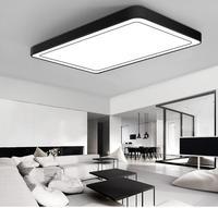 Современный офис освещения Потолочные светильники минималистский прямоугольный светодиодный потолочный гостиная фонари Романтический с