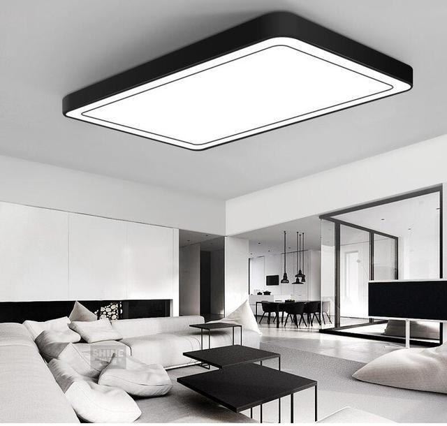 Modern Office Lighting Ceiling Lights Minimalist Rectangular LED Ceiling  Living Room Lights Romantic Bedroom Lamp Study