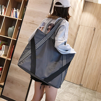 Big size shopping bag Fashionable Oxford canvas tote Simple retro artistic one shoulder women's bag girl hand bag