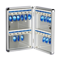 Wall Mounted Key Cabinet Security Management Keybox Storage Box Contains 24 key card For Company Home Office Hanging Keys