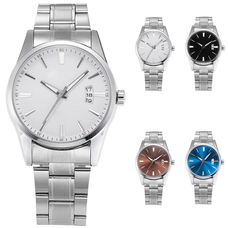 COCOTINA Men Watches Luxury Brand Day Date Hour Clock Silver Steel Strap Quartz Watch Men Sports Male Wrist Watch LSB01208 steel strap number quartz date watch