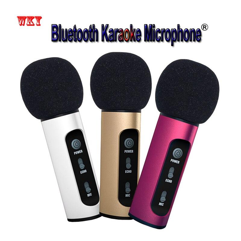 WKY Bluetooth karaoke Microphone microfono inalambrico wireless microphone for phone for computer microfone sem fio profissional lacywear s 161 fio