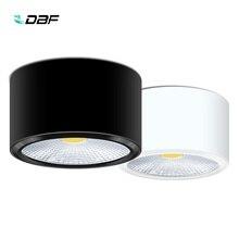 [DBF] поверхностный монтаж светодиодный светильник 3 Вт 5 Вт 7 Вт 12 Вт светодиодный потолочный светильник для кухни и ванной с регулируемой яркостью светодиодный светильник COB
