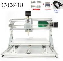 CNC 2418 + 2500 mw laser GRBL Diy lasergravur ER11 cnc-maschine, 3 Achse pcb fräsmaschine, holz Router + 2,5 watt laser