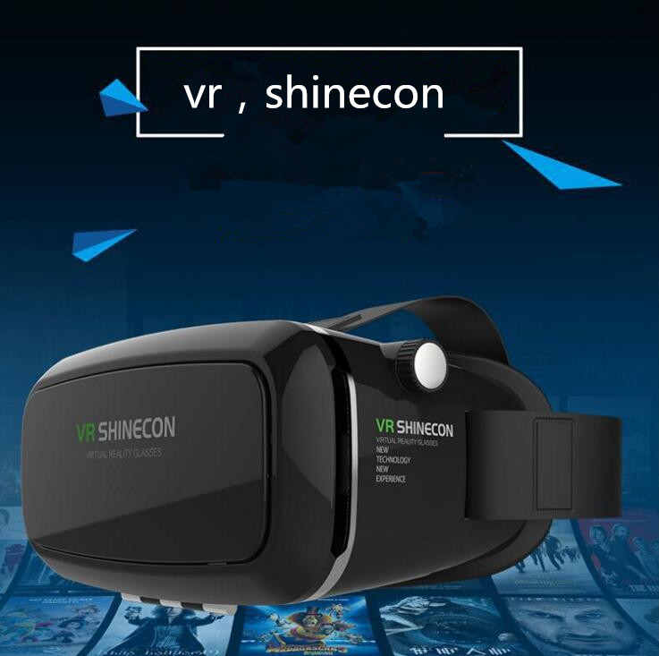 Hot Sales! new shinecon vr google box vr box with headphones vr virtual reality 3d glasses for 4.5 – 6.0 inch smartphone