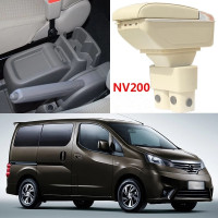 Armrest storage box car organizer seat gap case pocket content box with USB cup holder FIT FOR NISSAN NV200 armrest box