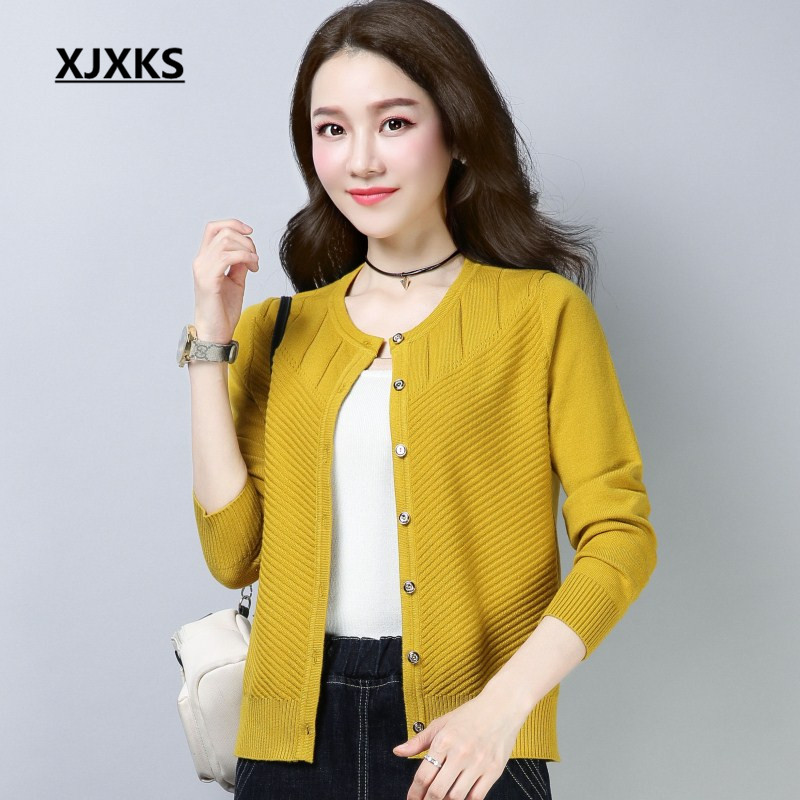 XJXKS woman sweater knitting cardigans young ladies cardigan single breasted wool knitted fashion women's sweaters-in Cardigans from Women's Clothing on AliExpress - 11.11_Double 11_Singles' Day 1