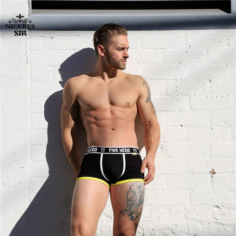PINK HERO men underwear Sexy Man Underwear Boxer Mens Cotton Underpants Fashion Design Male Mens comfortable panties