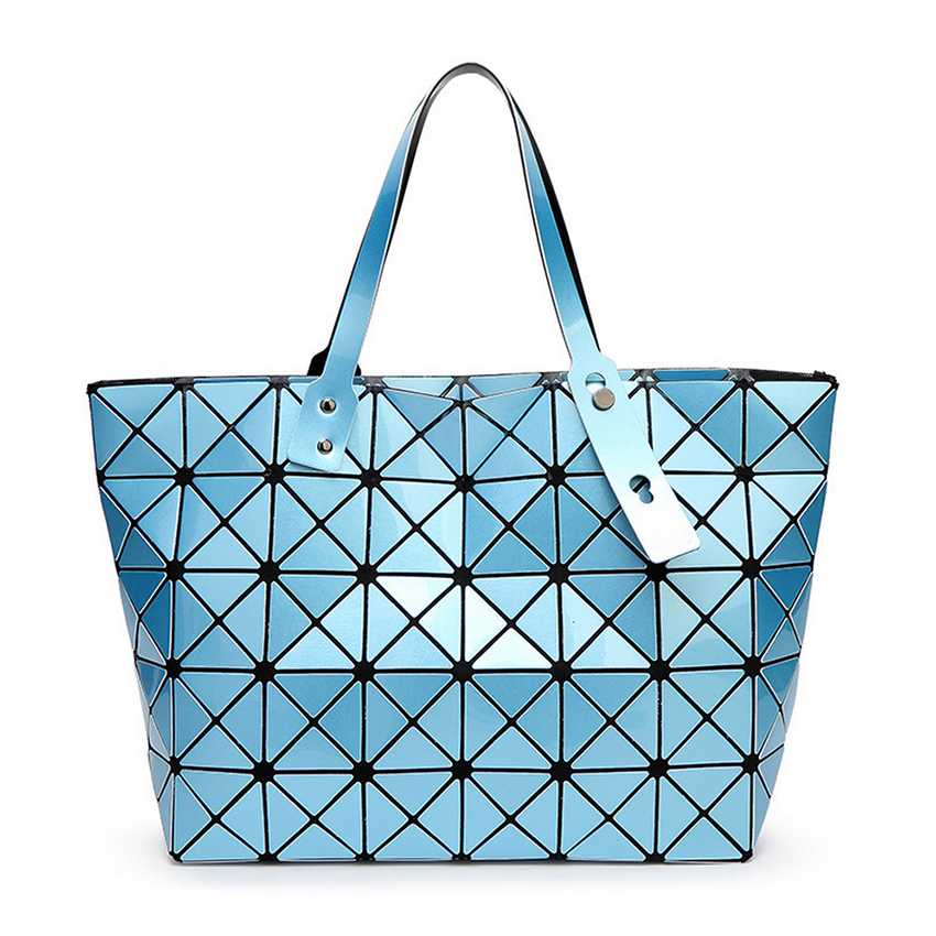 44791d0bd3e0 BaoBao Women BAO BAO Bag Lady Geometry Package Sequins Mirror Saser Plain  Split Joint Mujer Shoulder Bags Large Top Handle Tote-in Shoulder Bags from  ...