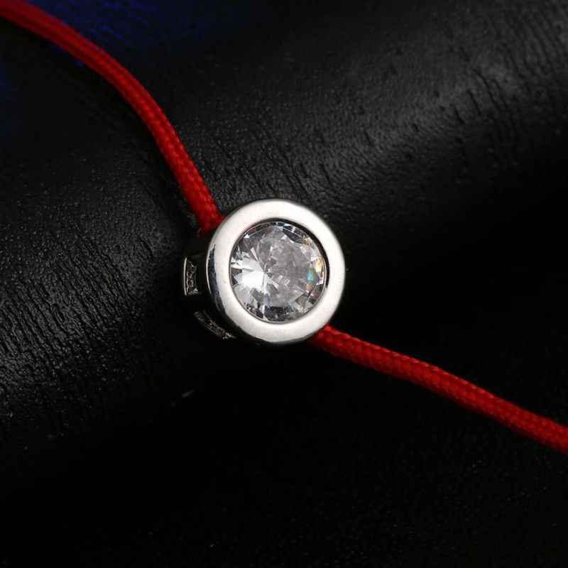 Màu Đỏ May Mắn Dây Ren Dây Chuỗi Dây CZ Zirconia Vòng Tay Cho Nữ