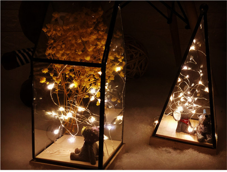 LED Garland Copper Wire String Fairy Lights gift decoration Bottle garland