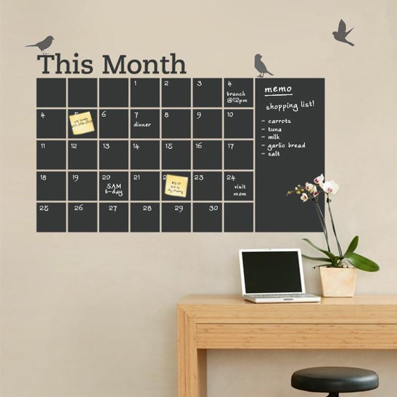 geekoplanet.com - DIY Vinyl Chalkboard Wall Calendar