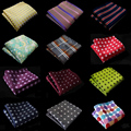 Factory Seller Man Handmade Silk Polyester Handkerchief Luxury Flower Dot Paisley Pocket Square HankyBusiness Party Chest Towel