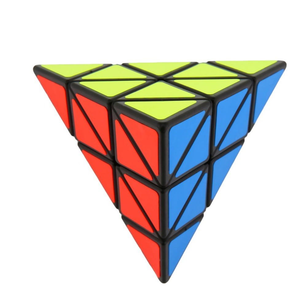 цена на OCDAY Pyramid Third-order Magic cube Puzzle-Shaped Triangle Cubes Cube Puzzle Educational Toys for children new sale