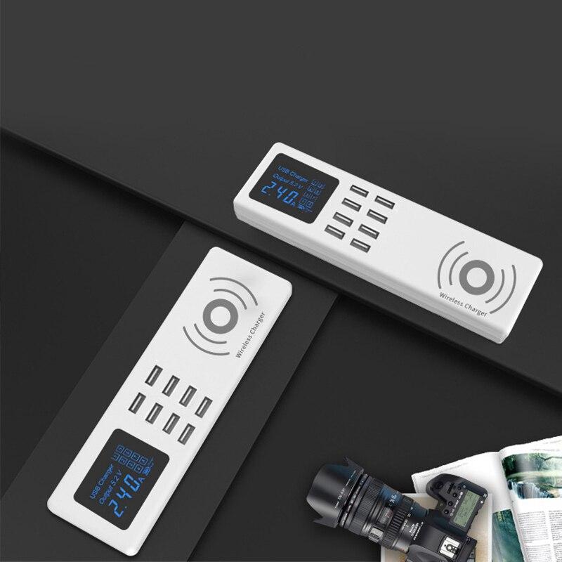 Thbelieve 2018 nouveau chargeur sans fil EU UK US prise adaptateur de prise de maison 8 USB Smartphone chargeur Station plusieurs chargeurs muraux