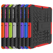 Silicone Hybrid Rugged Heavy Duty stand Cover Case for Samsung Galaxy Tab S2 9.7inch SM-T810 T815 Tablet Accessories S4C14