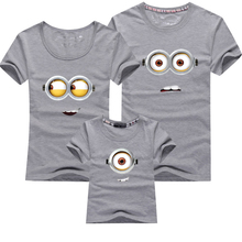 Family Look New 2016 Summer Family Clothes Minions T Shirts Father and Son Suits Mother Daughter