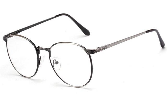 6f4e8e8c5eb High Quallity Korean Glasses Frames Myopia Eyewear Style Vintage Round  Eyeglasses Frame Women Metal Frame Men Spectacle Frames