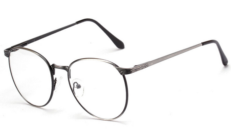 high quallity korean glasses frames myopia eyewear style vintage round eyeglasses frame women metal frame men