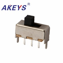20PCS SS-12F44 1P2T Single pole double throw slide switch verticle type 3 pin with 2 fixed pin DIP toggle switches