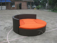Hot sale good quality Garden PE rattan furniture Patio aluminum frame furniture set leisure sofa for outdoor transport by sea