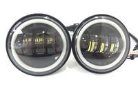 2pcs Round 4 5inch 30W LED Motorcycle Fog Light Black LED Fog Lamp For Harley Davidson