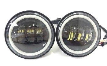 2pcs Round 4.5inch 30W LED Motorcycle Fog Light Black LED Fog Lamp