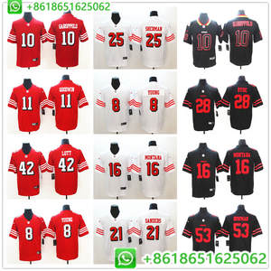 86cc1379335 2018 Men 49ers Jimmy Garoppolo Vapor Joe Montana Marquise Goodwin Richard  Sherman Ronnie Lott Vapor Untouchable Jersey Shirts