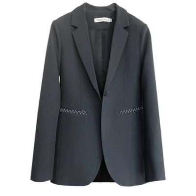 Mince Rétro Cendres 1 Qualité Mode Section Blazers Haute Lâche Brouillard Casual Tempérament Femme Mme Femmes Veste Manteau Nouveau SwfAvwHx
