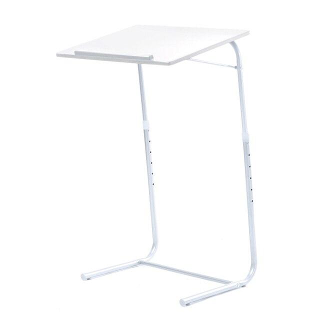 Blanco portátil portátil mesa plegable ajustable moderna dormitorio ...