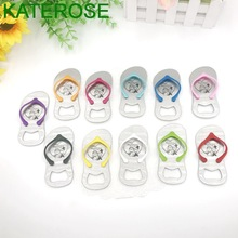 300PCS Personalized Bottle Opener Wedding Bridal Shower Favors Customized Flip-Flop Beer Openers Mix Colors Available
