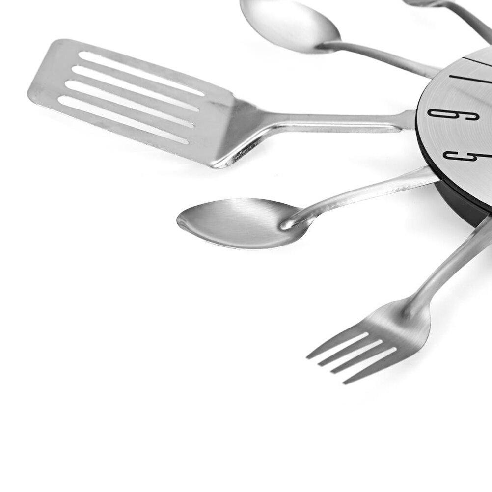Groot Bestek Voor Aan Muur.Goede Koop Bestek Ontwerp Wandklok Metalen Mes Vork Lepel Keuken