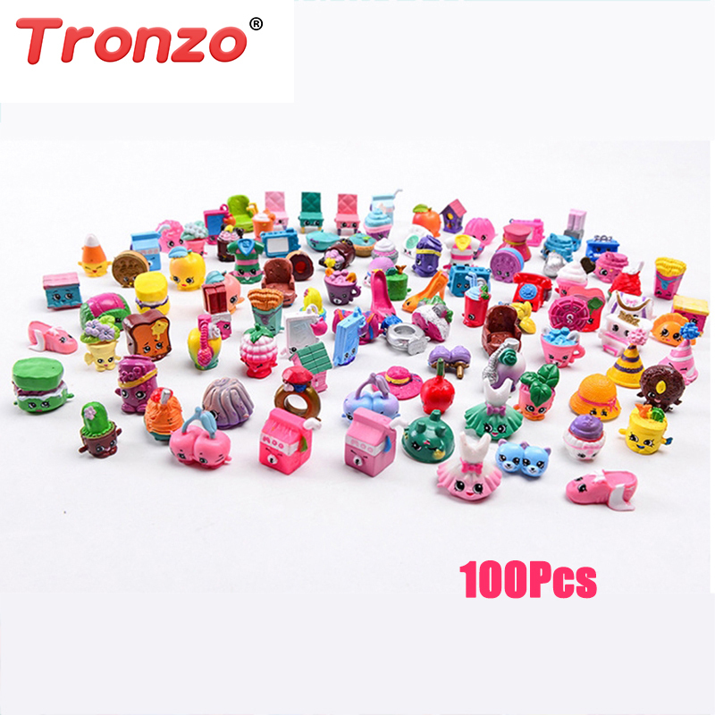 Tronzo 100 Pcs/Lot Many Kinds Fruit Shop Action Figures Kins For Family Dolls Kid's Christmas Gift Playing Toys Dropshipping ailaiki action figures toys anime moose trash pack dolls kids playing garbage mini doll christmas gift 20pcs lot free shipping