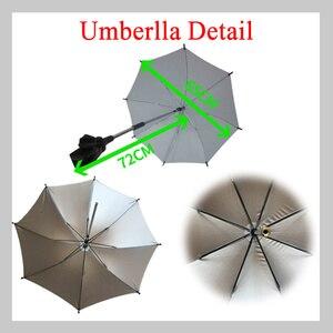 Image 5 - Ombrello passeggino Protable Baby colorato carrozzina parasole per passeggino pieghevole regolabile a 360 gradi accessori passeggino yoya
