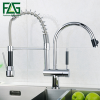 Pull Out Spray Single Lever Kitchen Faucet003 07