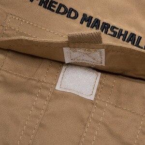 Image 5 - MAGCOMSEN erkek gömlek sonbahar uzun kollu pamuk kargo gömlek rahat elbise gömlek erkekler askeri ordu taktik kentsel iş gömlekleri