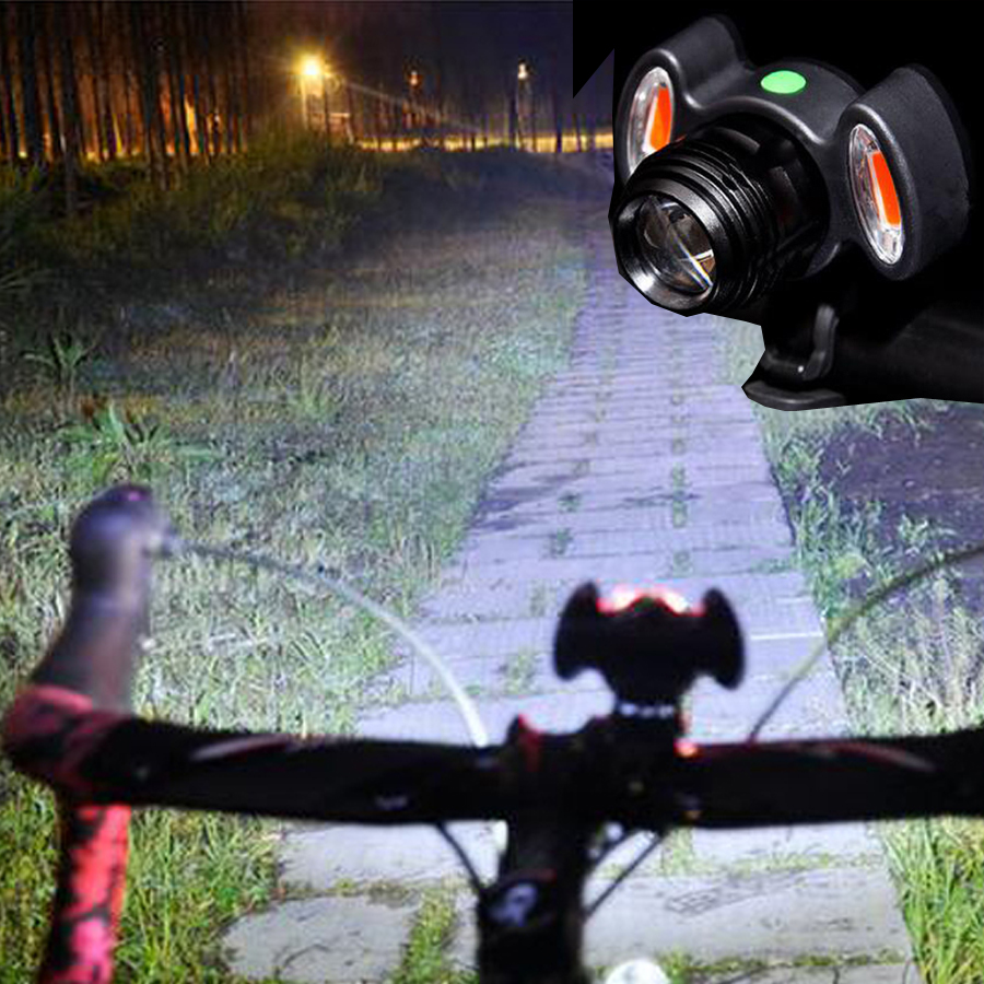 BASECAM Waterproof LED Bicycle Light Bike Front Lamp Outdoor Zoomable Headlight USB Rechargeable Built-in Battery Warning Light