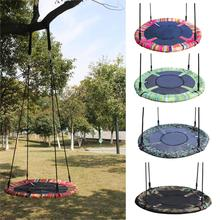 New Toy Swing For Kids Stripe Camouflage Pattern Round Nest Tree Swing Kids Toys Outdoor Indoor Folding Baby Swing Hanging Chair